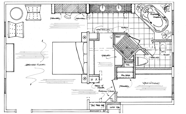 Kitchen and bath concepts our process Large master bath plans